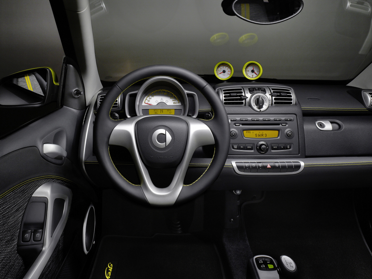 Modellhistorie fortwo 2007 for Auto interieur styling